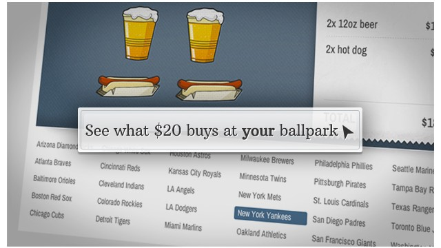 Which baseball stadiums will charge you the most?