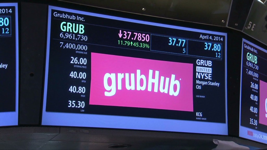 GrubHub CEO talks about its tasty IPO
