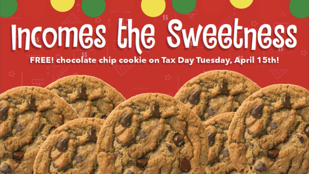 tax day deals great american cookies