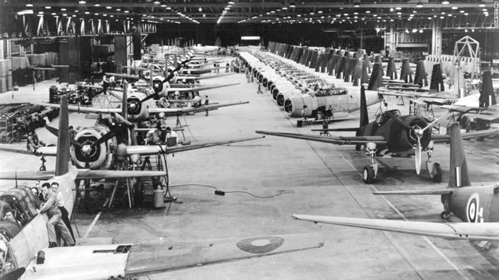 american factories airplanes