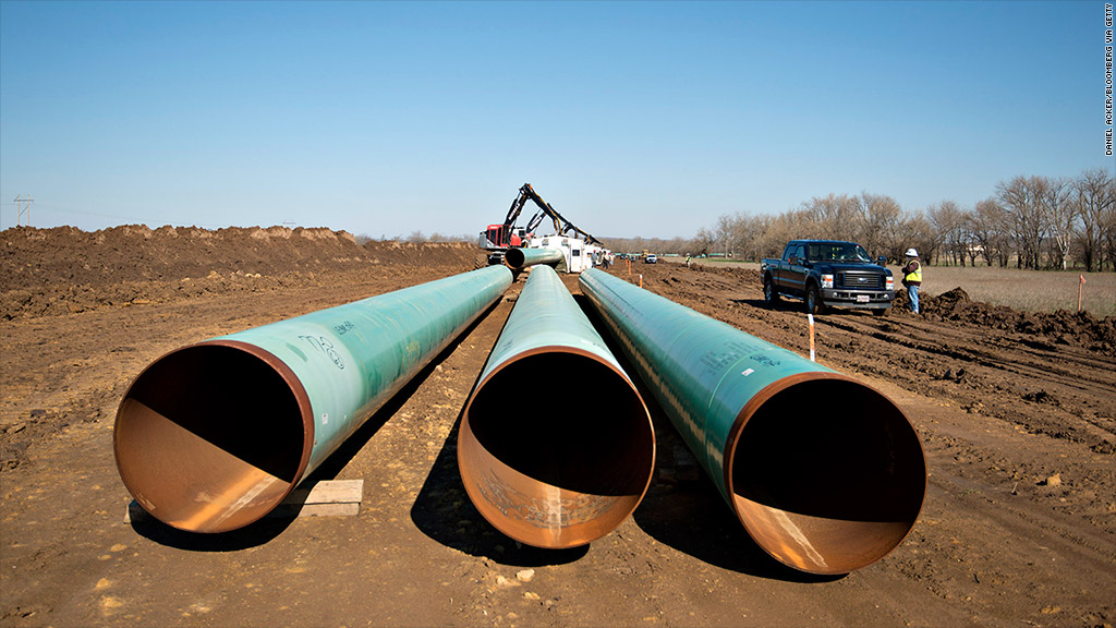 keystone xl pipeline delay stock