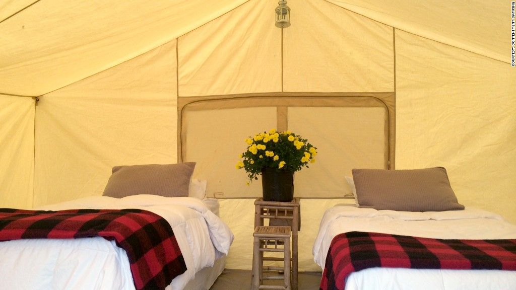 glamping contentment twin