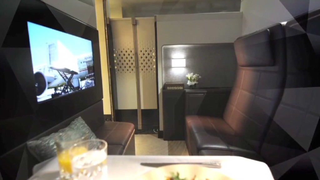 Ultimate upgrade: 3-room suite on a plane