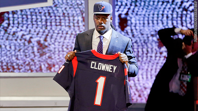 3b7a3d559f3 The Houston Texans took Jadeveon Clowney first in the NFL Draft. Ex-players  hope he and other rookies manage their money wisely.