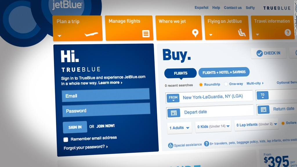 jetblue password