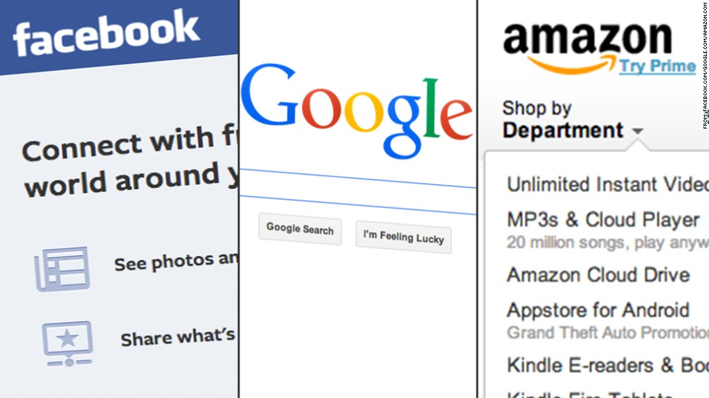 facebook google amazon