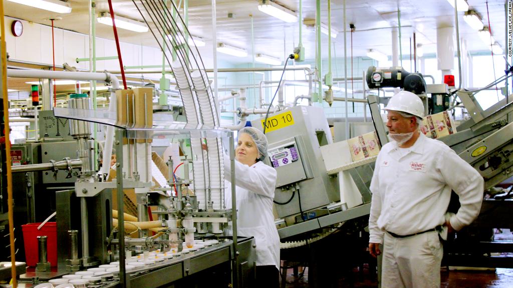 women in manufacturing velvet ice cream