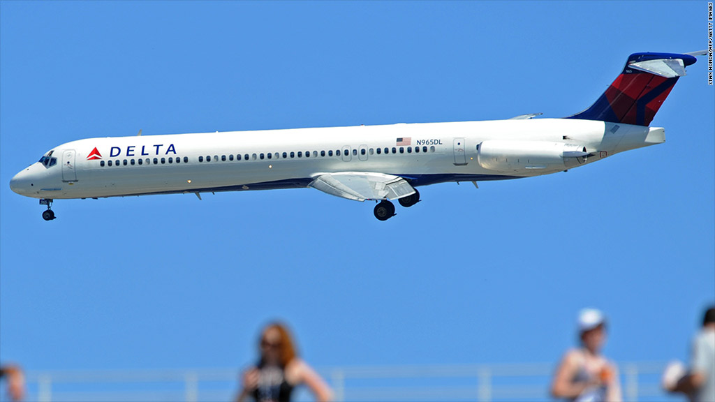 Delta's profits and stock at cruising altitude