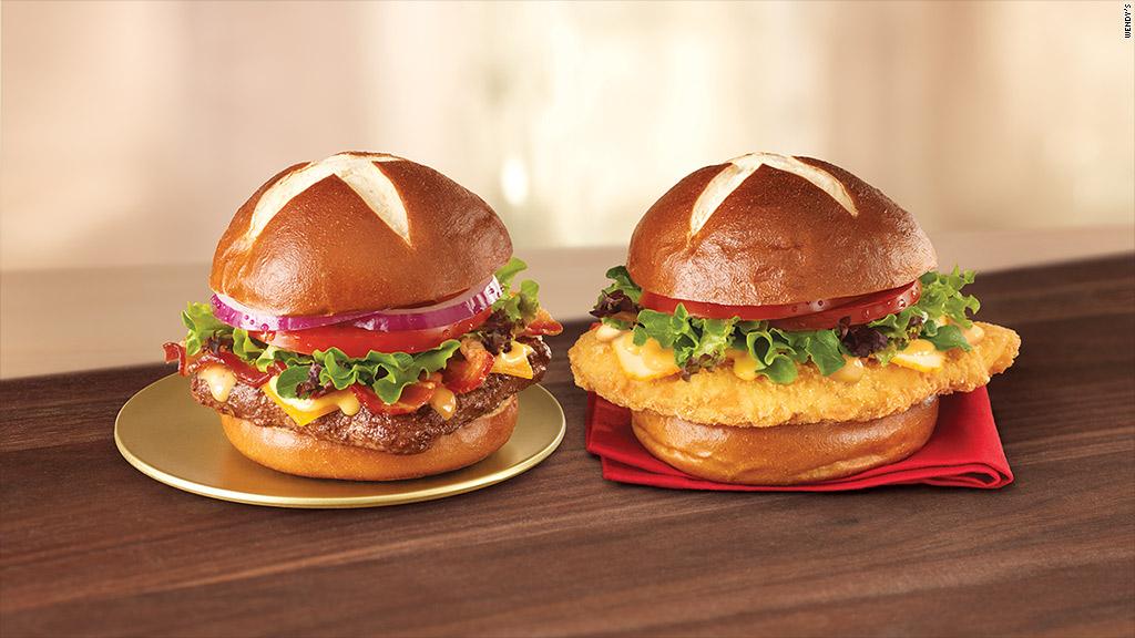wendys pretzel burger