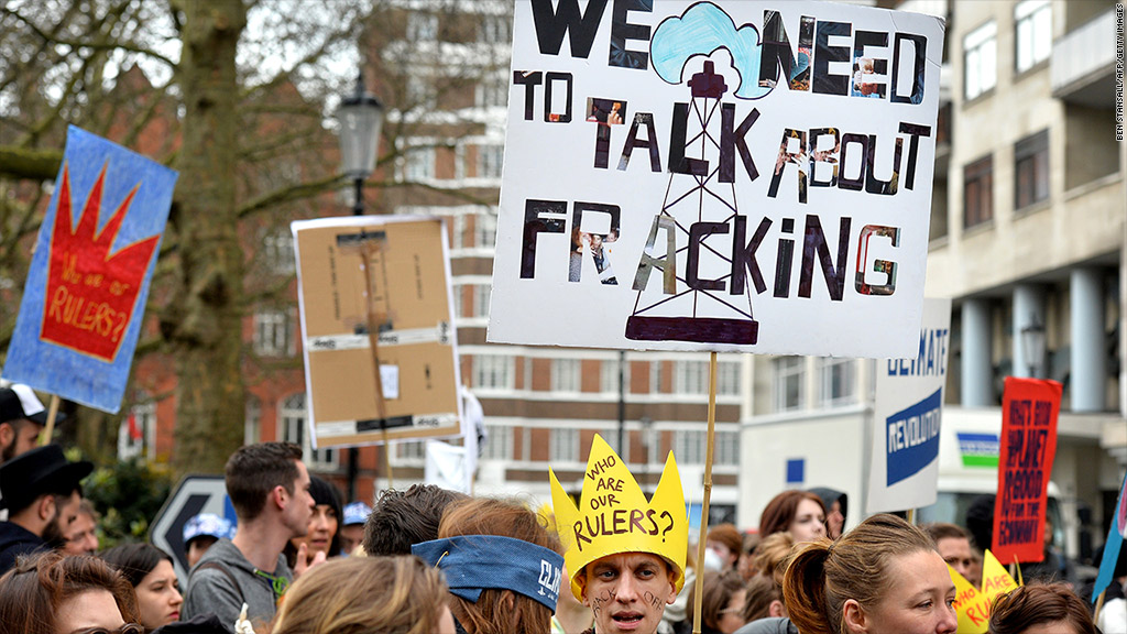europe fracking protests