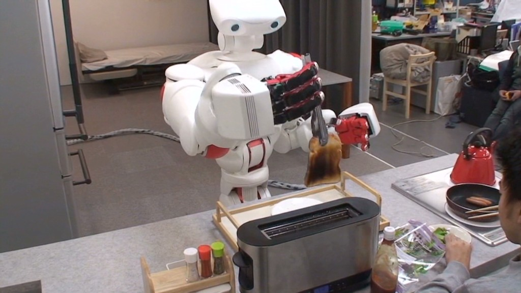 Japanese robots look like real people