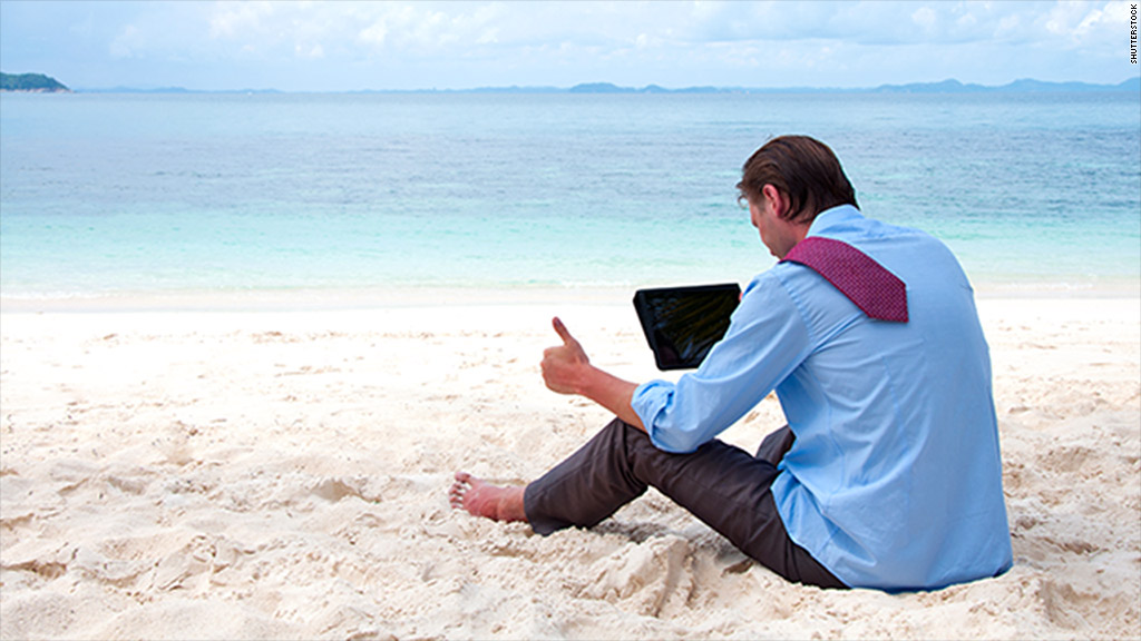 investor on the beach