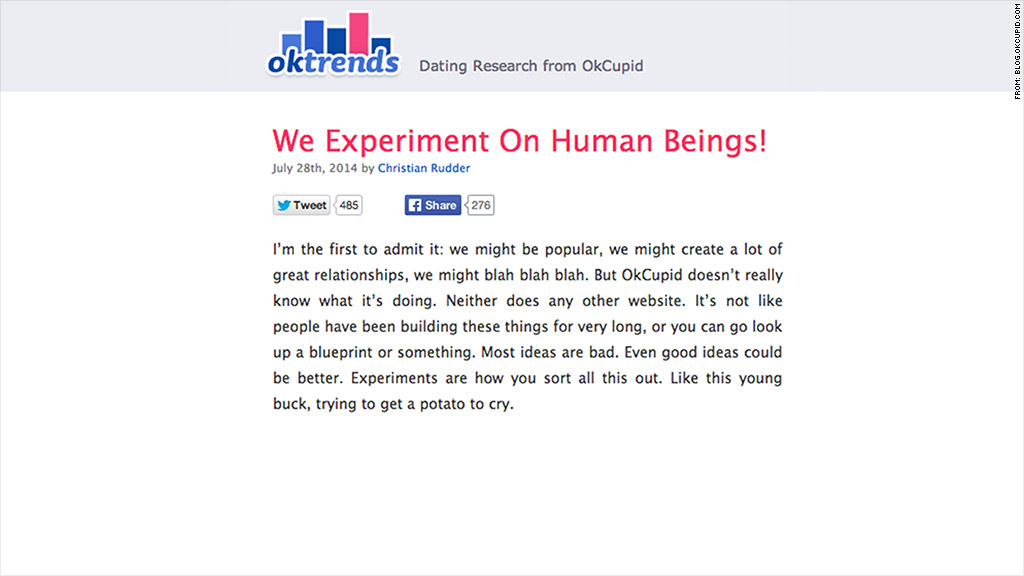 ok cupid experiments