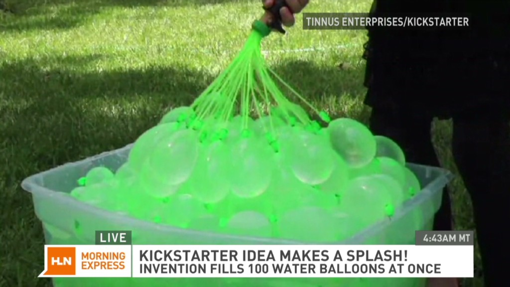 Fill 100 water balloons in a minute