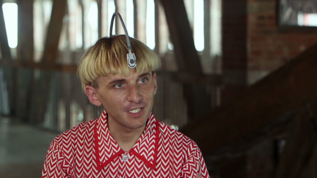 Cyborg implants antenna in skull