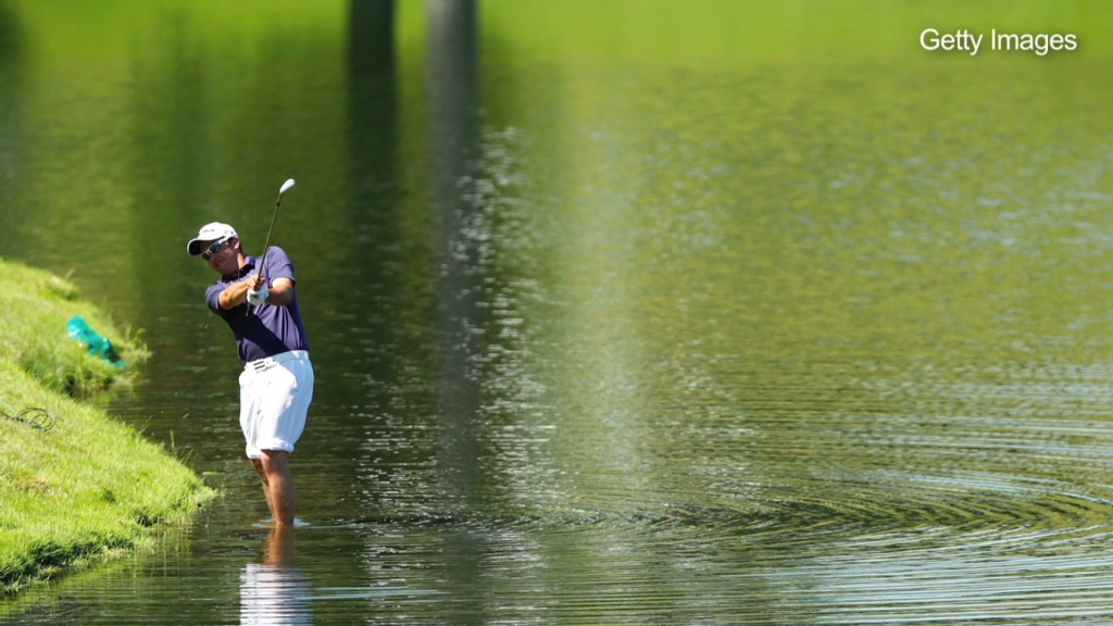 Not all golf stocks in water hazard