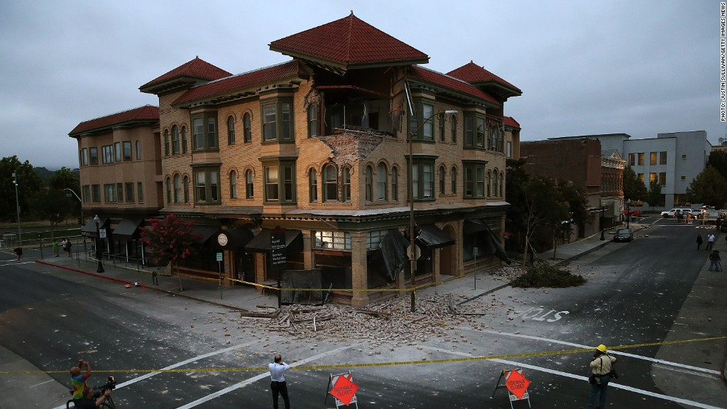 napa earthquake building