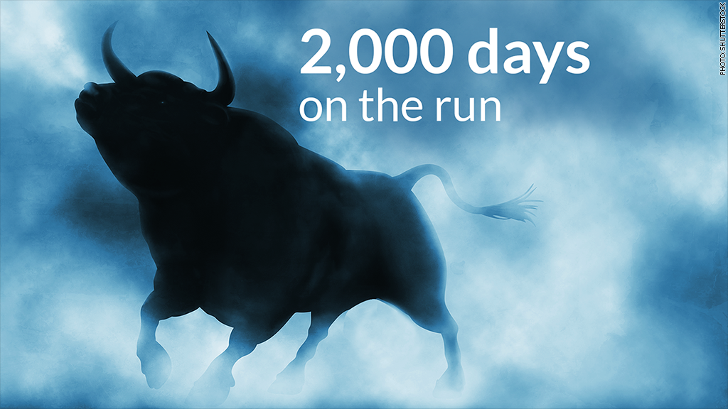 bull on the run