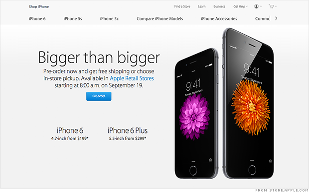 iphone 6 plus apple store iphone 6 pre orders crash apple and iphone 6 plus 17547