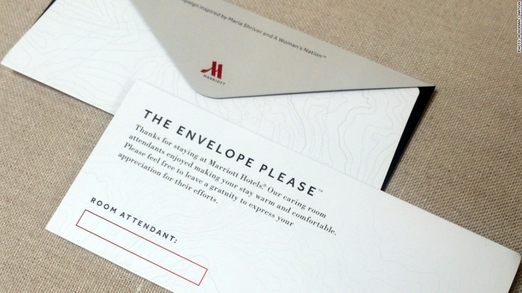 marriott tipping envelope