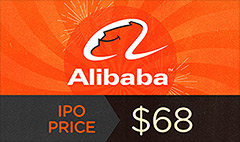 It's official: Alibaba prices at $68