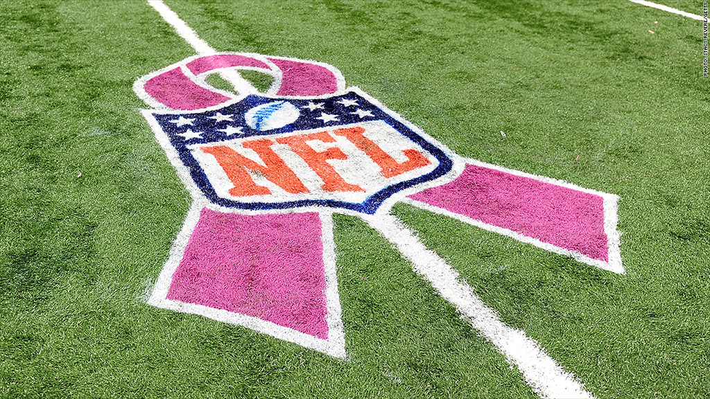 nfl pink ribbon