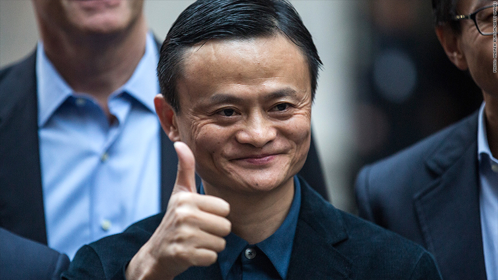 jack ma thumbs up