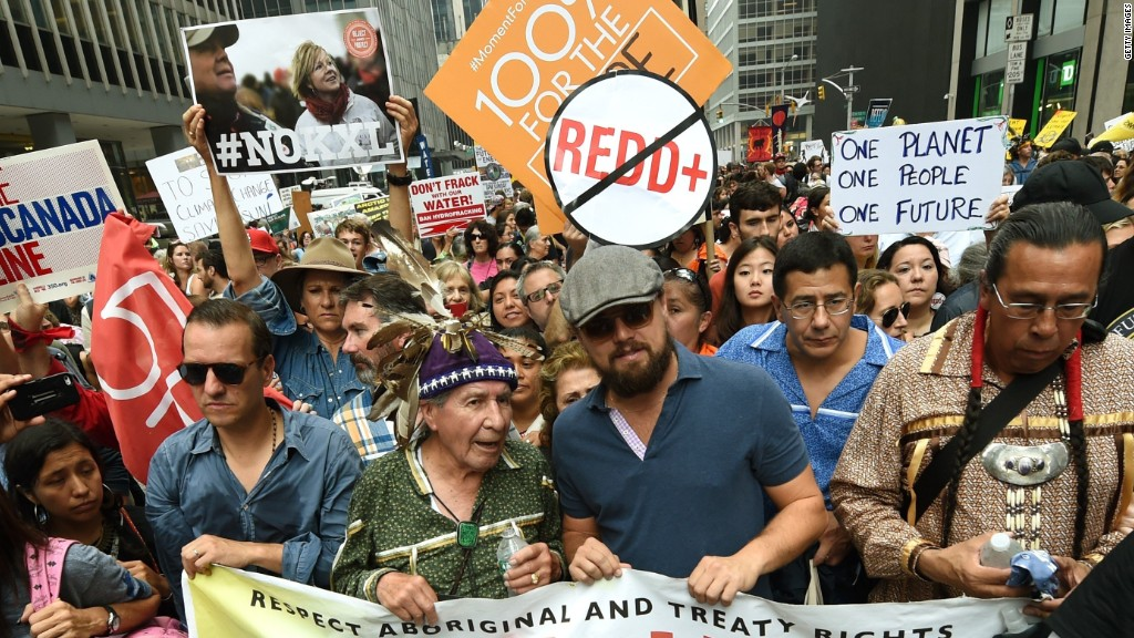 Thousands rally for climate change action