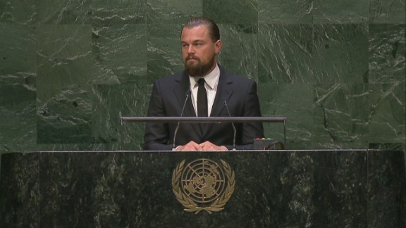 Leonardo DiCaprio addresses world leaders at the UN: Climate change is real