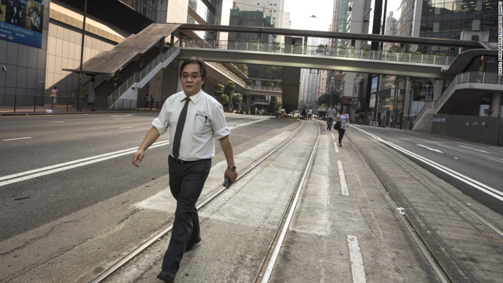 hk empty street