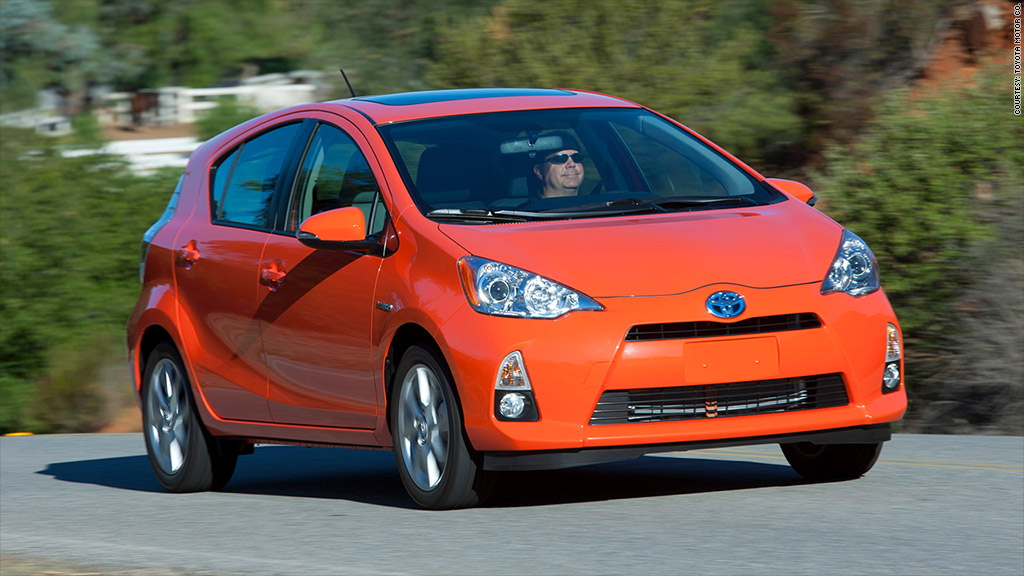 toyota prius c most ticketed