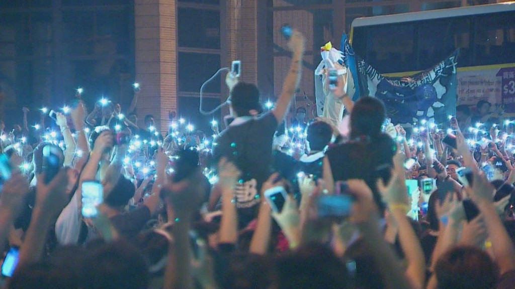 Hong Kong protesters: young and rebellious