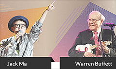 Battle of the billionaires: Jack Ma vs. Warren Buffett