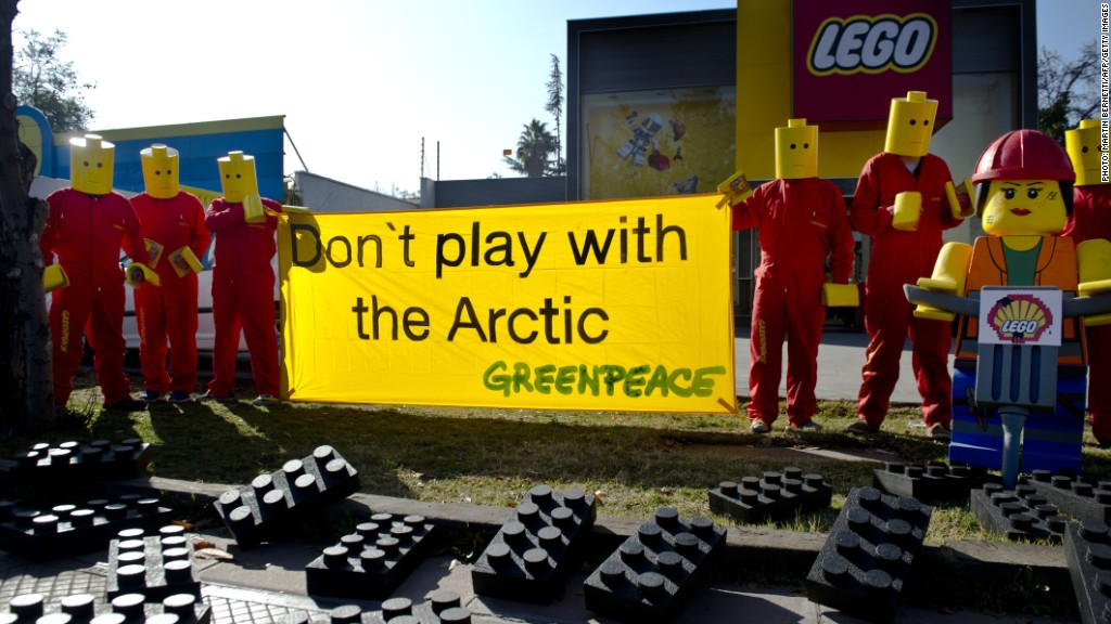 lego shell greenpeace protest