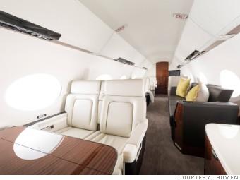 gulfstream jet cabin