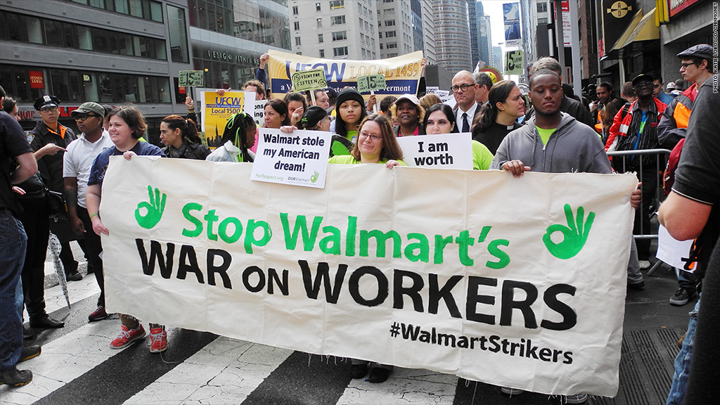 wal mart protest street