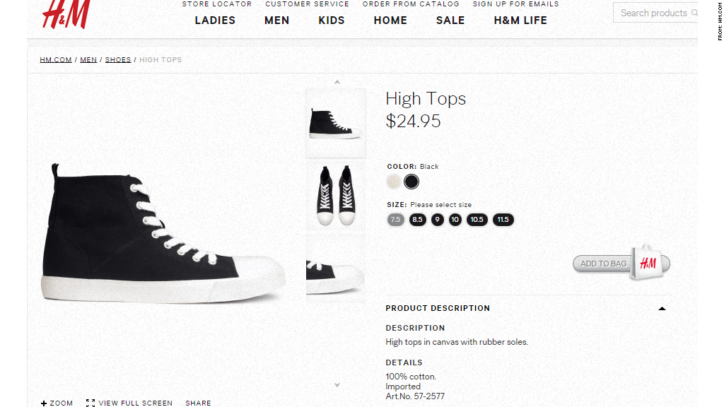 e9a37f653ebd4b H M High Tops - Some Converse copycats cost big bucks - CNNMoney