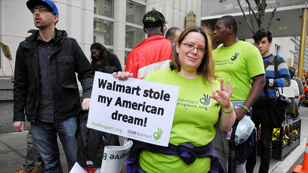 wal mart protest