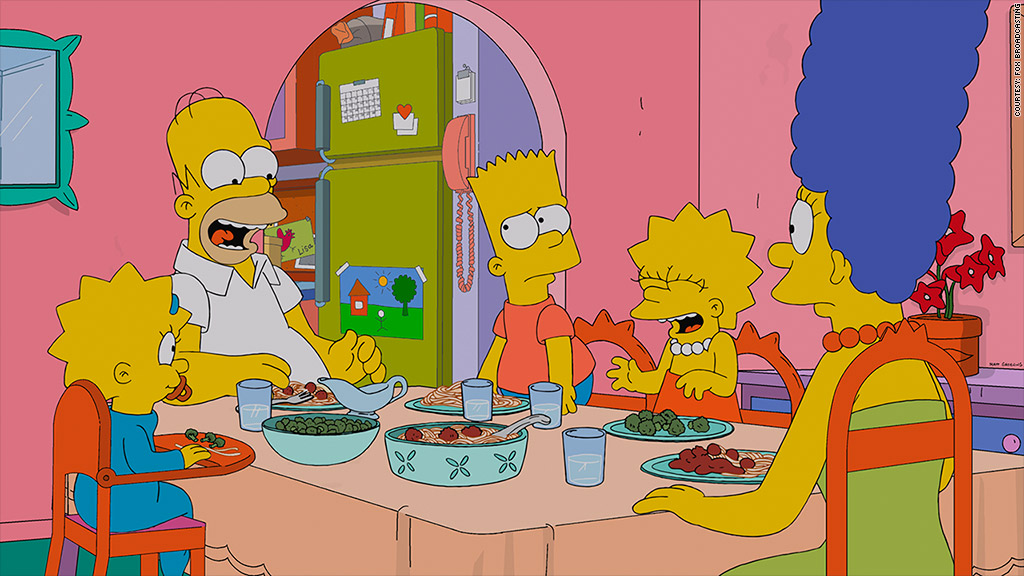 simpsons dinner table