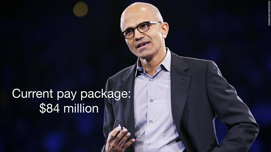 satya nadella current pay package