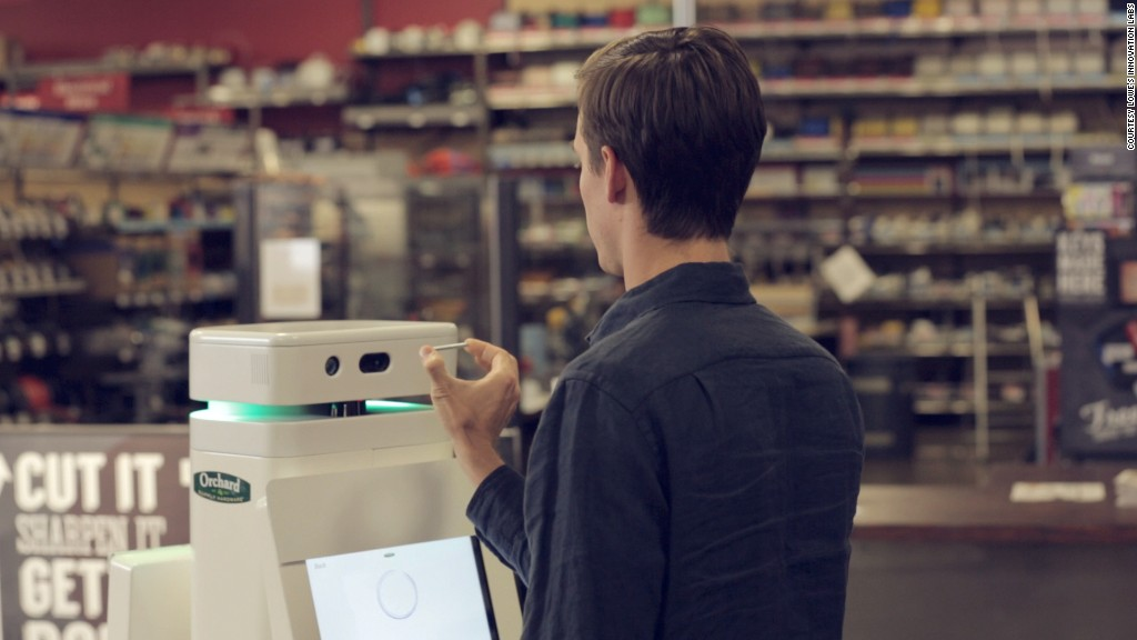 lowes robot scanning
