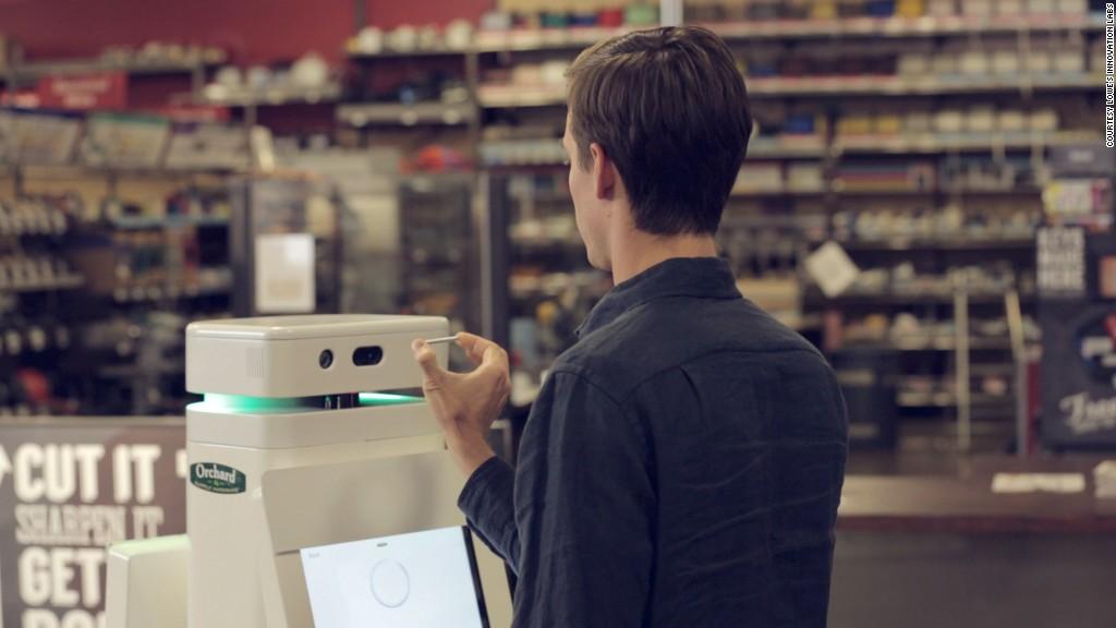 lowes robot scanning