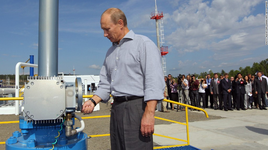 Russian oil pipe Putin