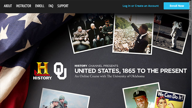 History Channel to teach college history