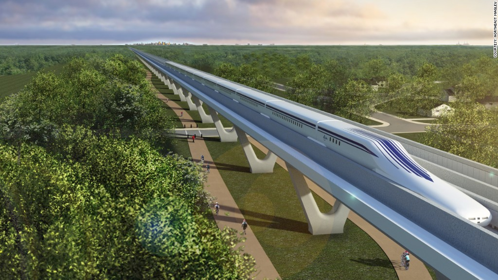high speed train maglev