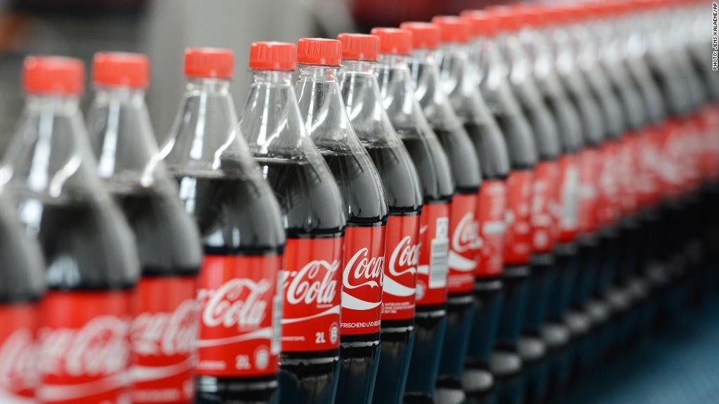 soda bottles coke