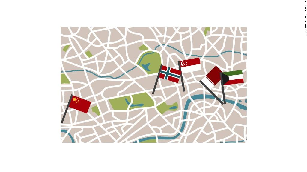Lodon real estate map