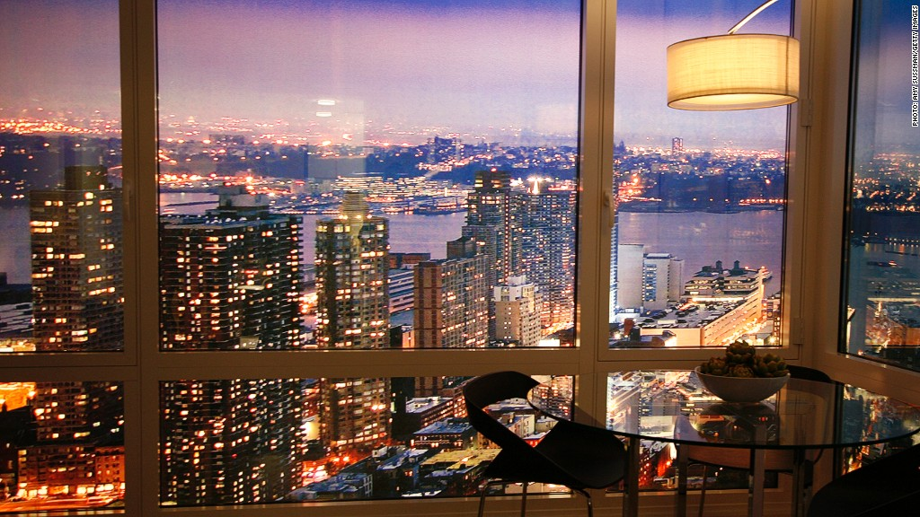 manhattan luxury apartment view