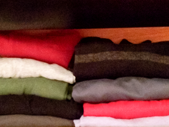 closet organization folded clothes