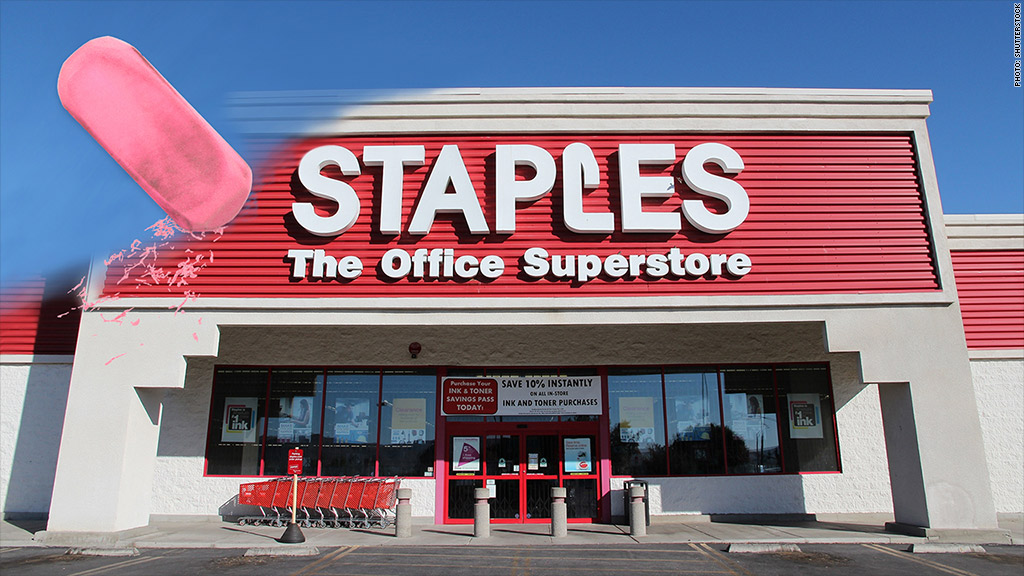 staples closing
